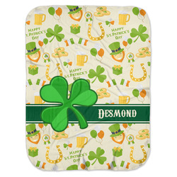 St. Patrick's Day Baby Swaddling Blanket (Personalized)
