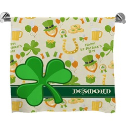 St. Patrick's Day Full Print Bath Towel (Personalized)