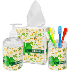 St. Patrick's Day Acrylic Bathroom Accessories Set w/ Name or Text