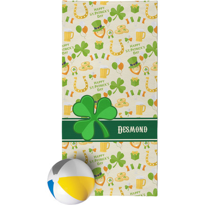 St. Patrick's Day Beach Towel (Personalized)