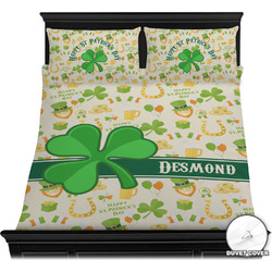 St. Patrick's Day Duvet Cover Set (Personalized)
