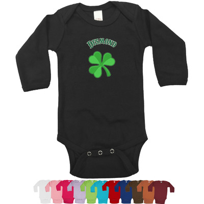 St. Patrick's Day Long Sleeves Bodysuit - 12 Colors (Personalized)