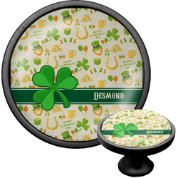 St. Patrick's Day Cabinet Knob (Black) (Personalized)