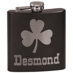 St. Patrick's Day Black Flask (Personalized)