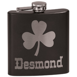 St. Patrick's Day Black Flask Set (Personalized)