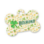 St. Patrick's Day Bone Shaped Dog ID Tag (Personalized)