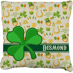 St. Patrick's Day Faux-Linen Throw Pillow (Personalized)