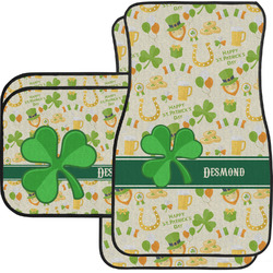 St. Patrick's Day Car Floor Mats Set - 2 Front & 2 Back (Personalized)