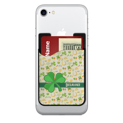 St. Patrick's Day 2-in-1 Cell Phone Credit Card Holder & Screen Cleaner (Personalized)