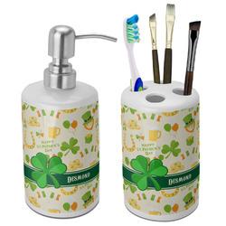 St. Patrick's Day Ceramic Bathroom Accessories Set (Personalized)