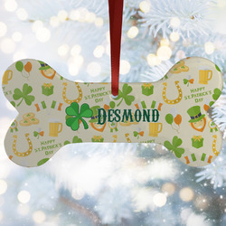 St. Patrick's Day Ceramic Dog Ornaments w/ Name or Text