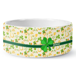 St. Patrick's Day Ceramic Pet Bowl (Personalized)