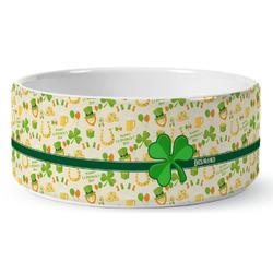 St. Patrick's Day Ceramic Dog Bowl (Personalized)