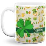 St. Patrick's Day 11 Oz Coffee Mug - White (Personalized)
