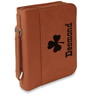 St. Patrick's Day Leatherette Book / Bible Cover with Handle & Zipper (Personalized)