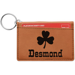 St. Patrick's Day Leatherette Keychain ID Holder (Personalized)