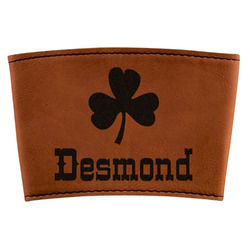 St. Patrick's Day Leatherette Cup Sleeve (Personalized)
