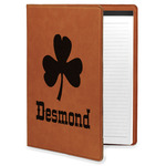 St. Patrick's Day Leatherette Portfolio with Notepad (Personalized)