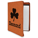 St. Patrick's Day Leatherette Zipper Portfolio with Notepad (Personalized)