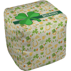 St. Patrick's Day Cube Pouf Ottoman (Personalized)