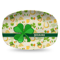 St. Patrick's Day Plastic Platter - Microwave & Oven Safe Composite Polymer (Personalized)