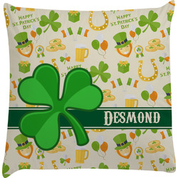 St. Patrick's Day Decorative Pillow Case (Personalized)