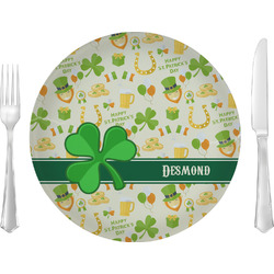 St. Patrick's Day Glass Lunch / Dinner Plates 10