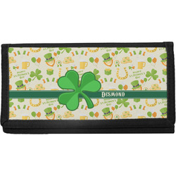 St. Patrick's Day Canvas Checkbook Cover (Personalized)
