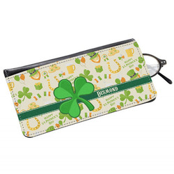 St. Patrick's Day Genuine Leather Eyeglass Case (Personalized)