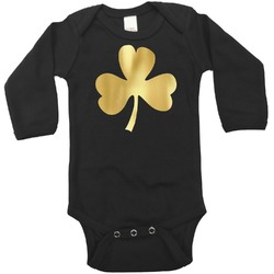 St. Patrick's Day Foil Bodysuit - Long Sleeves - Gold, Silver or Rose Gold (Personalized)