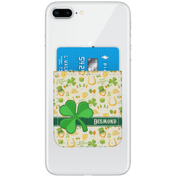 St. Patrick's Day Genuine Leather Adhesive Phone Wallet (Personalized)