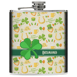 St. Patrick's Day Genuine Leather Flask (Personalized)