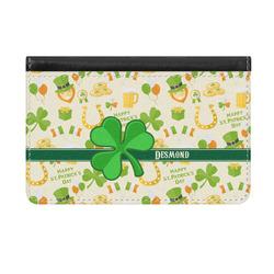 St. Patrick's Day Genuine Leather ID & Card Wallet - Slim Style (Personalized)