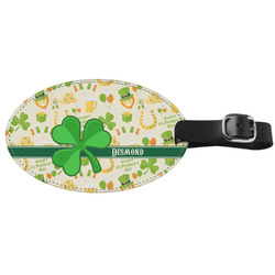St. Patrick's Day Genuine Leather Luggage Tag (Personalized)