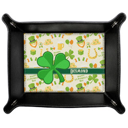 St. Patrick's Day Genuine Leather Valet Tray (Personalized)