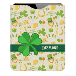 St. Patrick's Day Genuine Leather iPad Sleeve (Personalized)