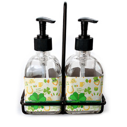 St. Patrick's Day Soap & Lotion Dispenser Set (Glass) (Personalized)