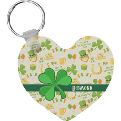 St. Patrick's Day Heart Keychain (Personalized)