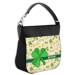 St. Patrick's Day Hobo Purse w/ Genuine Leather Trim (Personalized)
