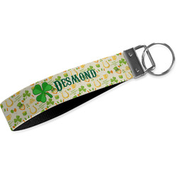 St. Patrick's Day Webbing Keychain Fob - Small (Personalized)