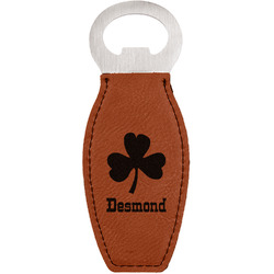St. Patrick's Day Leatherette Bottle Opener (Personalized)