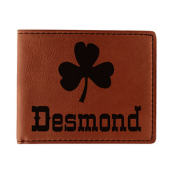 St. Patrick's Day Leatherette Bifold Wallet - Single Sided (Personalized)