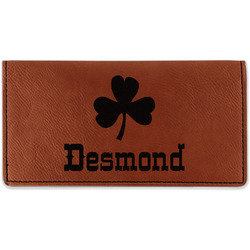 St. Patrick's Day Leatherette Checkbook Holder (Personalized)