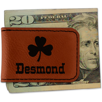 St. Patrick's Day Leatherette Magnetic Money Clip (Personalized)