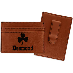 St. Patrick's Day Leatherette Wallet with Money Clip (Personalized)