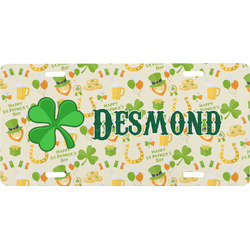 St. Patrick's Day Front License Plate (Personalized)