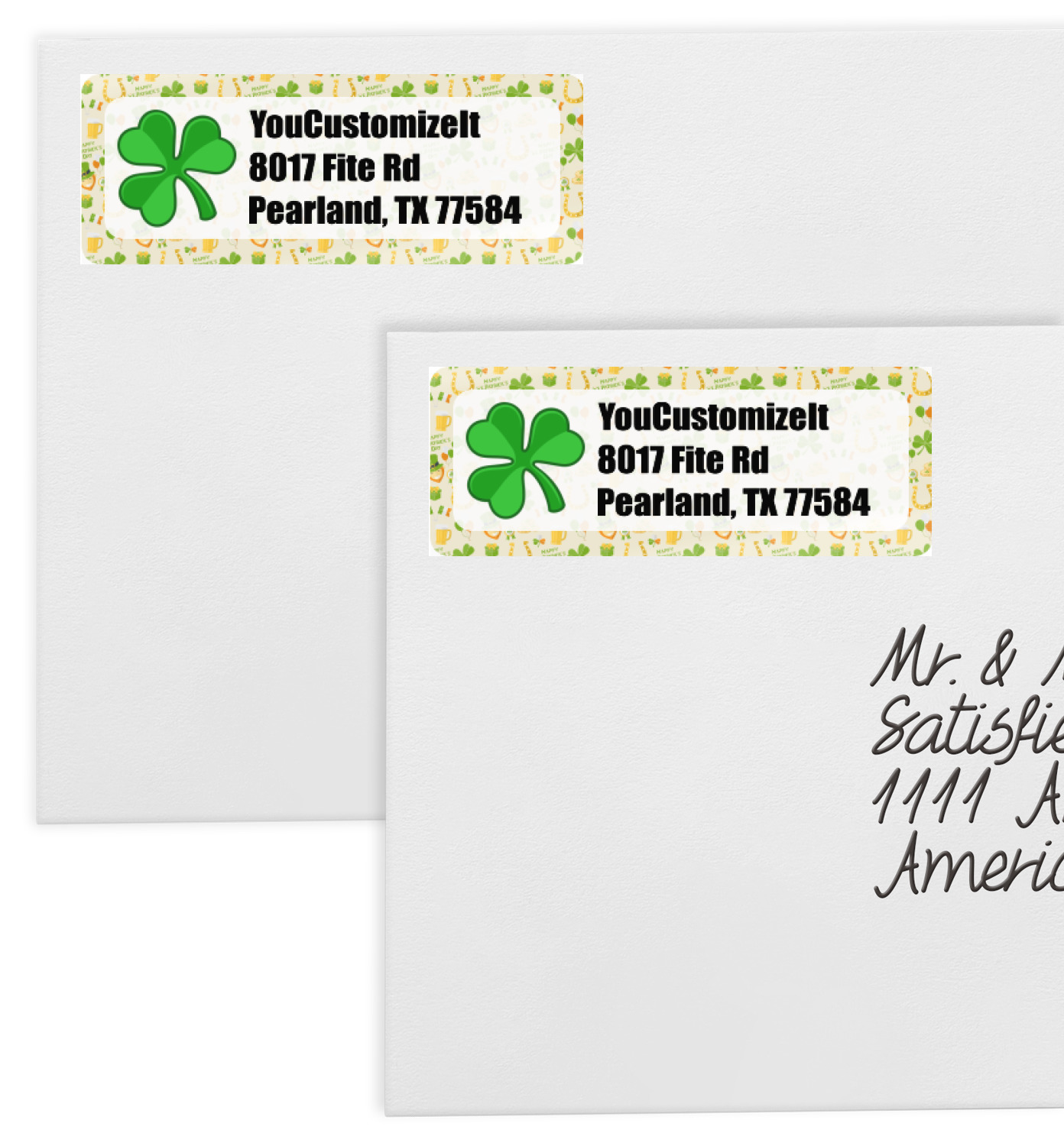 This is a photo of Punchy St Jude Free Mailing Labels
