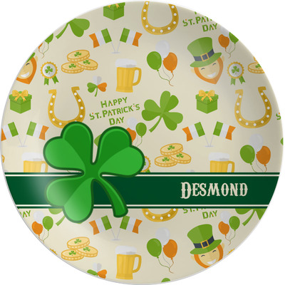 St. Patrick's Day Melamine Plate (Personalized)