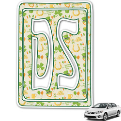 St. Patrick's Day Monogram Car Decal (Personalized)