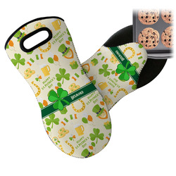 St. Patrick's Day Neoprene Oven Mitts w/ Name or Text
